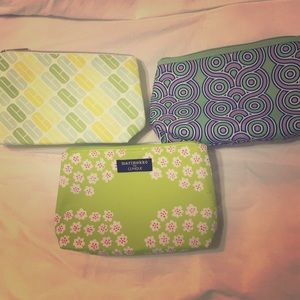 Clinique-assorted zipper make up bags.